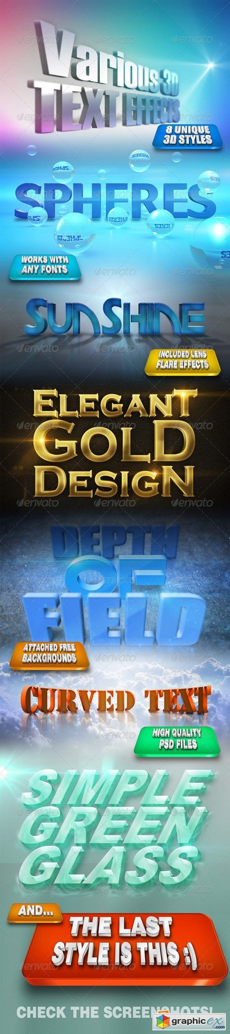 Various 3D Text Effects 4936661