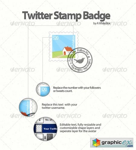 Twitter Stamp Badge 64080
