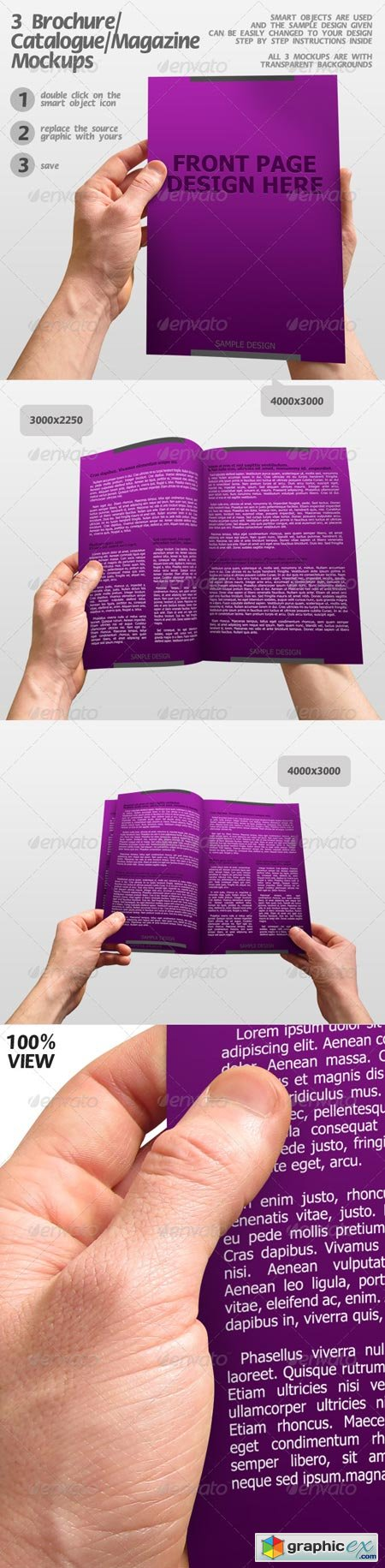 3 Brochure Catalogue Magazine Mockups 153082