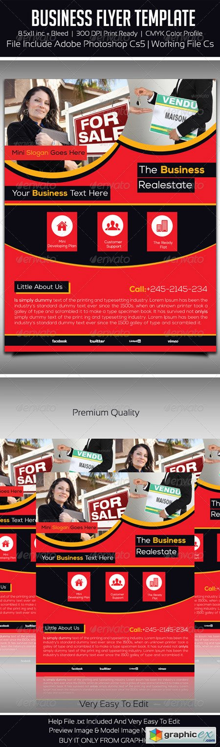 Business Flyer Template 5405062