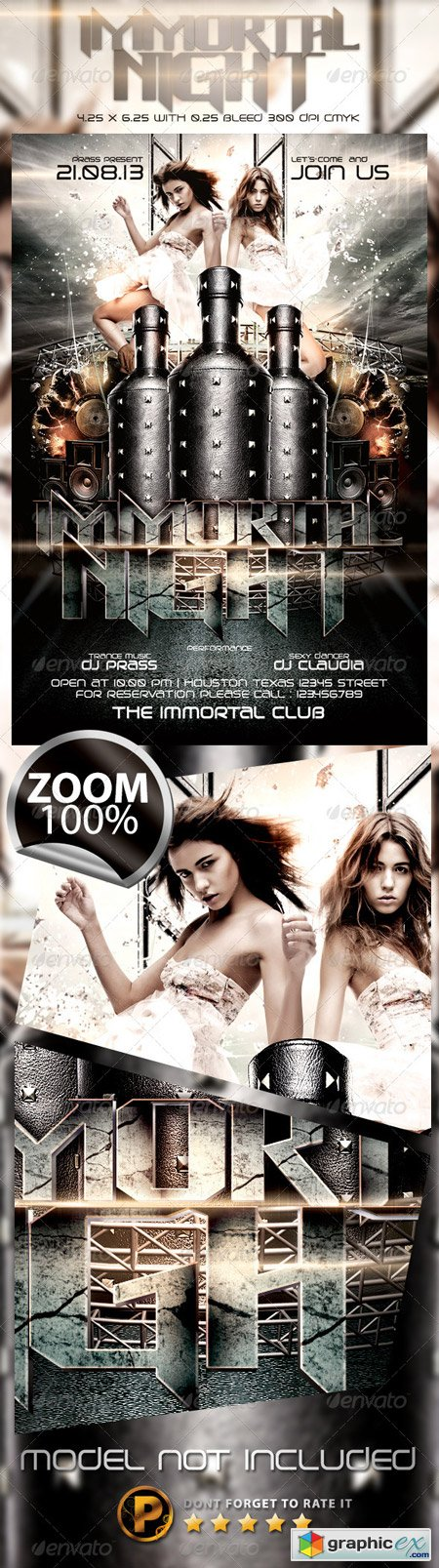 Immortal Night Flyer Template