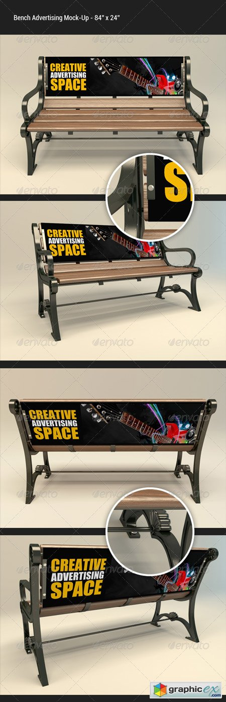 Bench Advertising Mock-Up