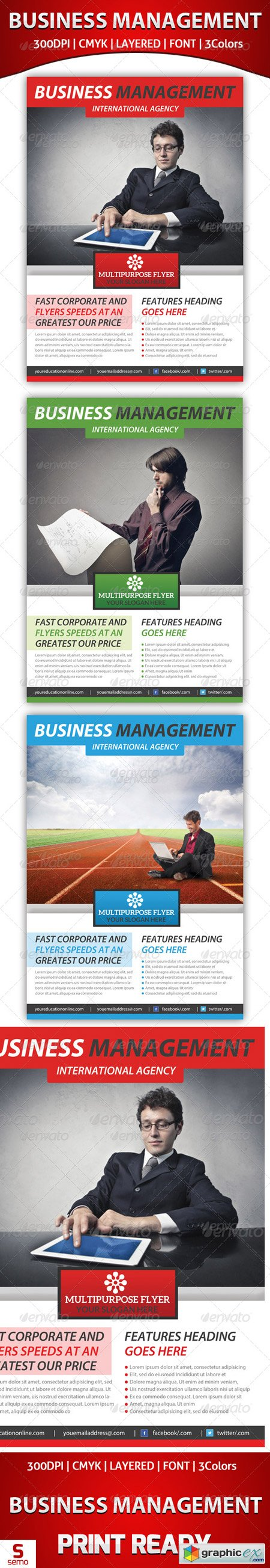 Business Management Flyer Template