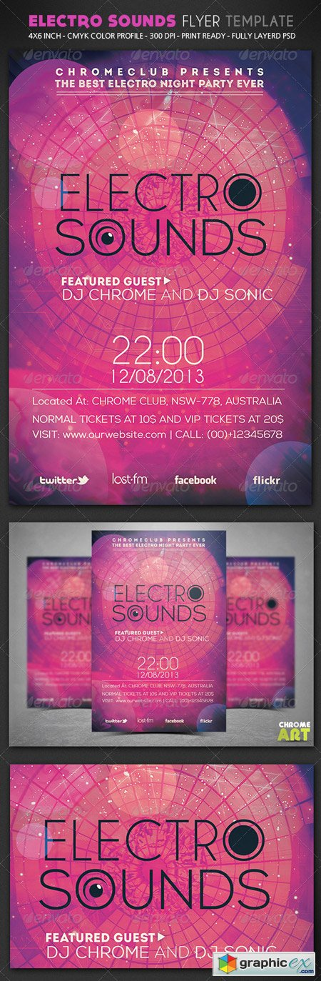 Electro Sounds Flyer Template 5933166