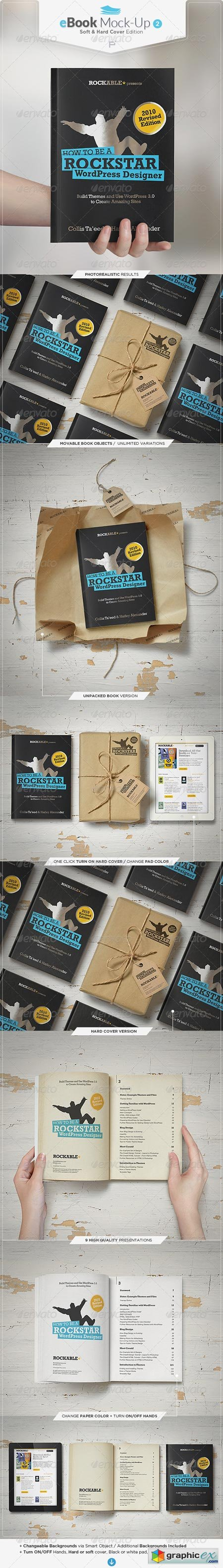 eBook Mock-Up Set 2 Soft & Hard Cover Edition 6887101