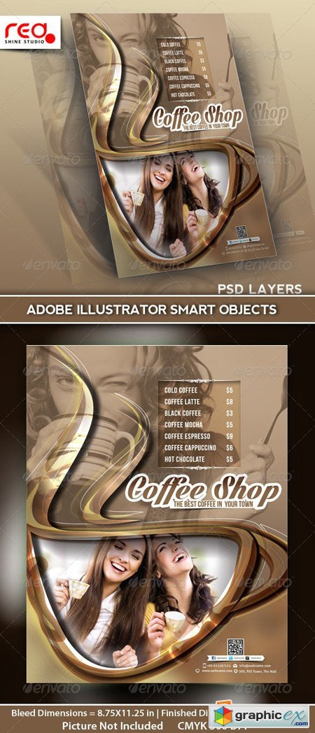 Coffee Shop Menu Flyer Template