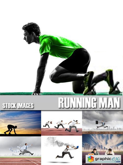 Stock Photos - Running Men, 25xJpg