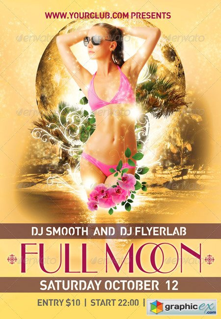 Flyer Template Full Moon