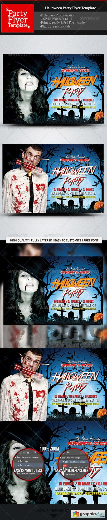 Halloween Party Flyer Template 5740598