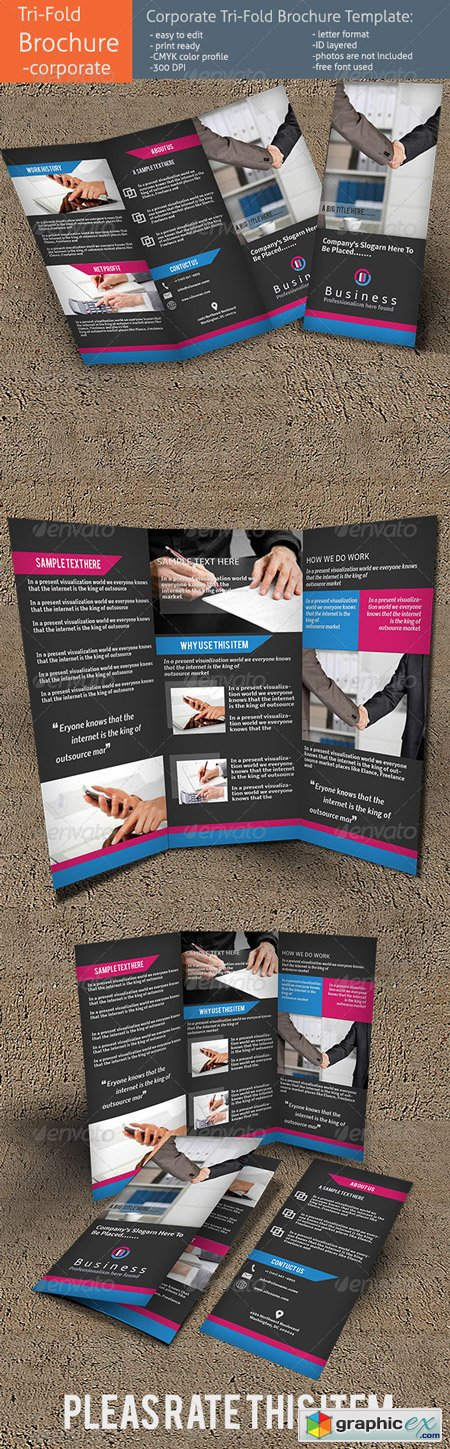Corporate Tri-Fold Brochure Template 5635003