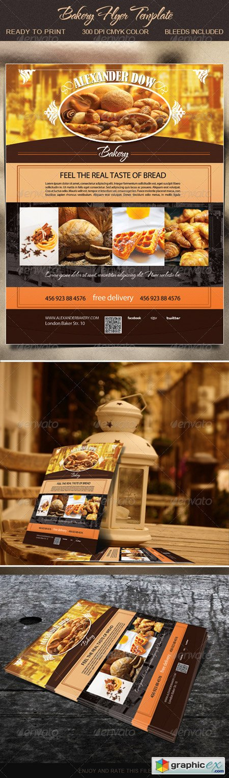 Bakery Flyer Template Free Download Vector Stock Image Photoshop Icon