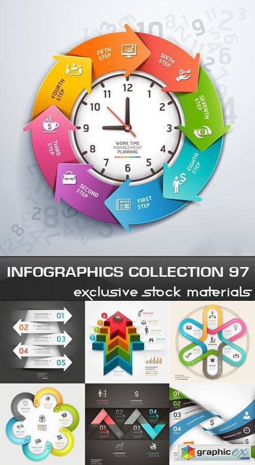 Collection of infographics vol.97, 25xEPS