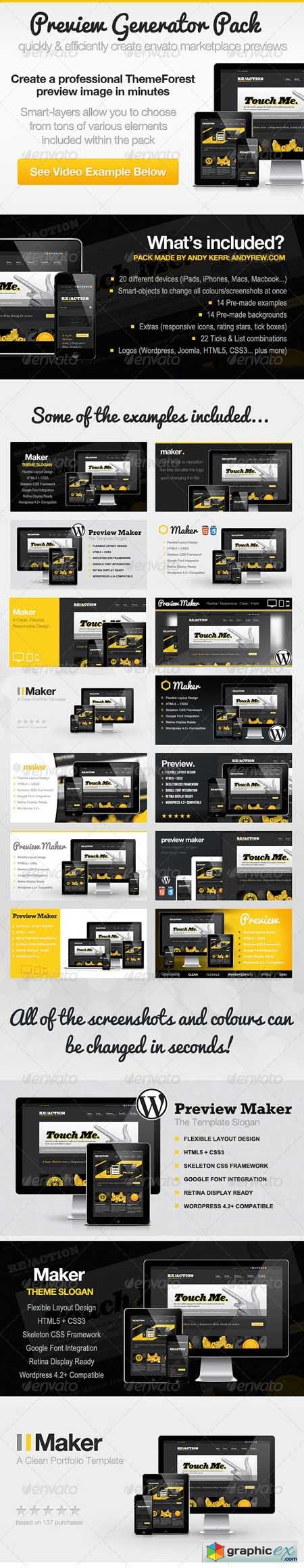 ThemeForest Preview Generator Pack