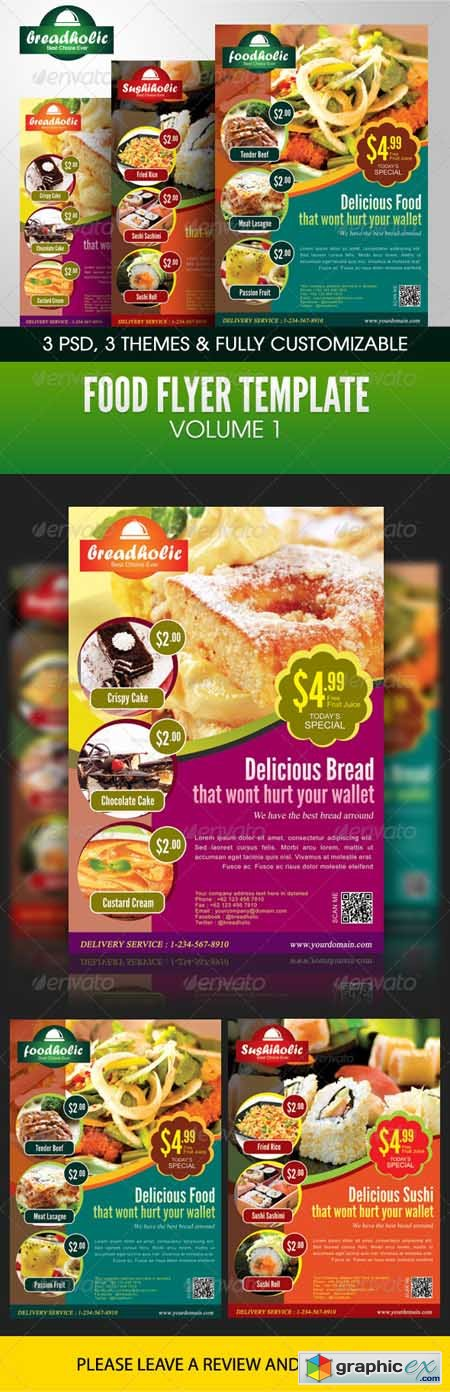 Food Flyer Template Volume 1 2786191