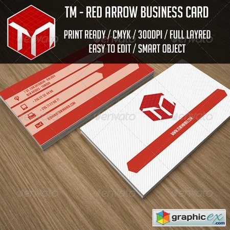Red Arrow Business Card