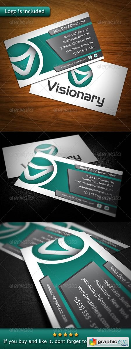 Visionary Creative Business Card