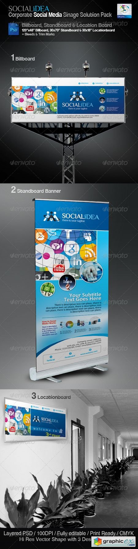 Socialidea Corporate Sinage Solution Pack
