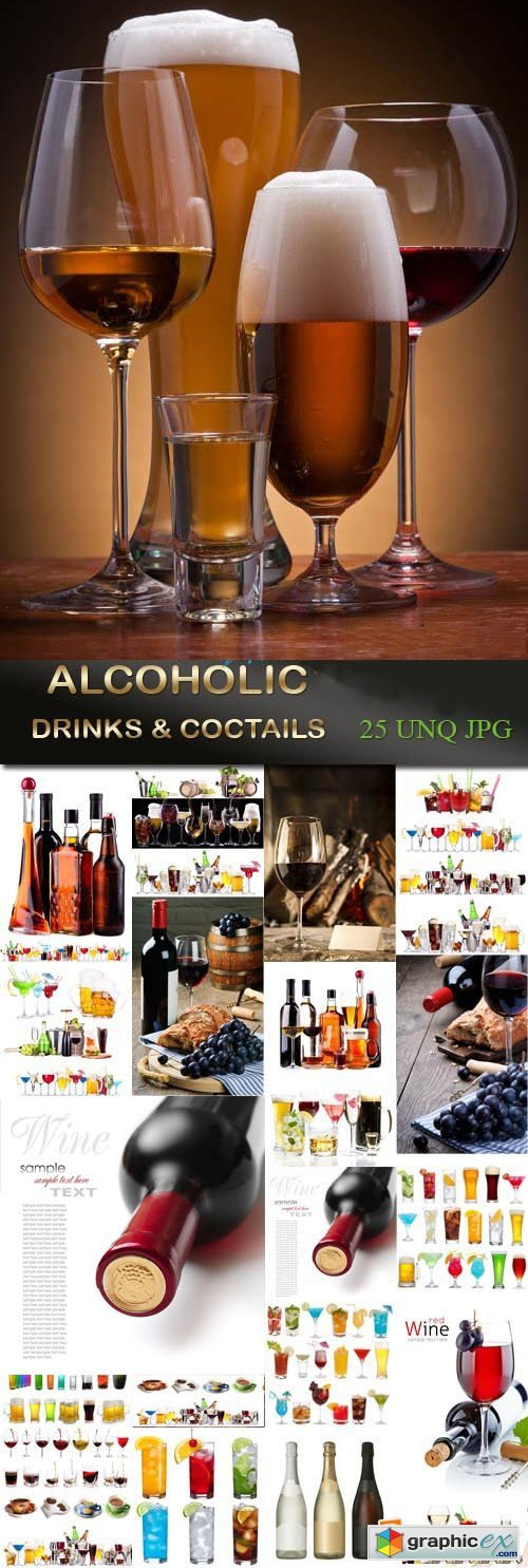 Alcoholic drinks and cocktails, 25xJPGs