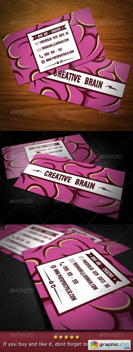 Creative Brain Business Card