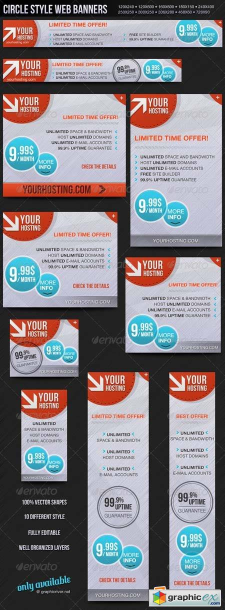 Circle Style Web Banners Template