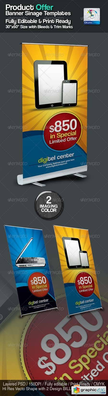 Product Offer Banner Sinage Templates