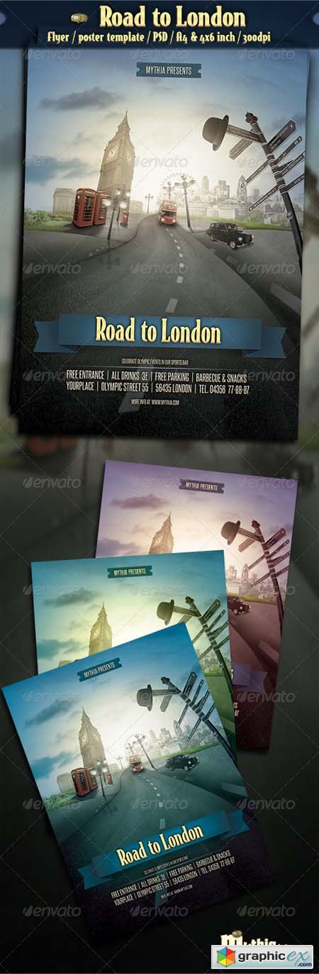 Road to London - Event Flyer Poster Template