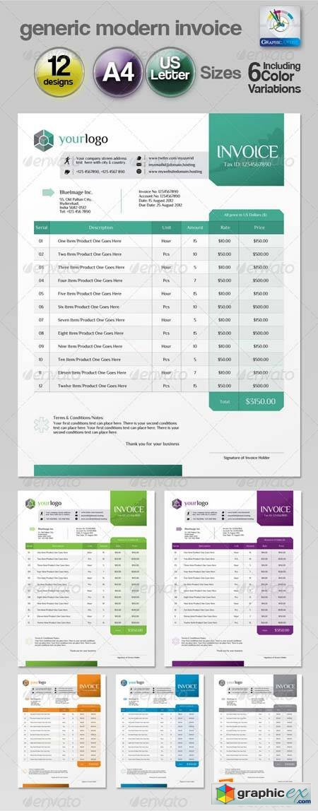 vintage invoice template free – residers, Simple invoice