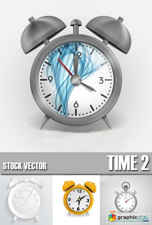 Shutterstock - Alarm clock, Time, watch 2, 25xEps