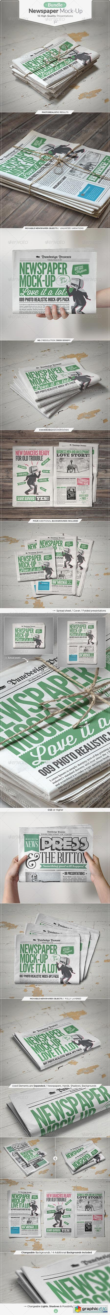 Newspaper Mock-up Bundle 7493506
