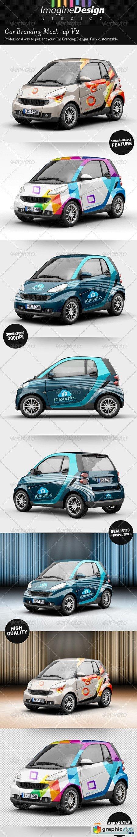 Car Branding Vector Car Branding Mock-up v2