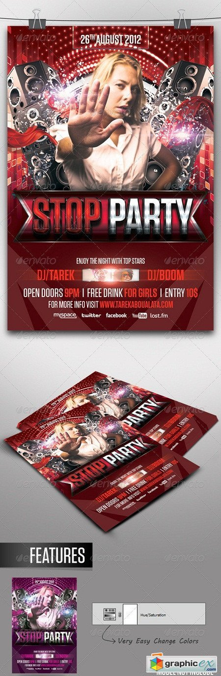 Stop Party Flyer 3292166