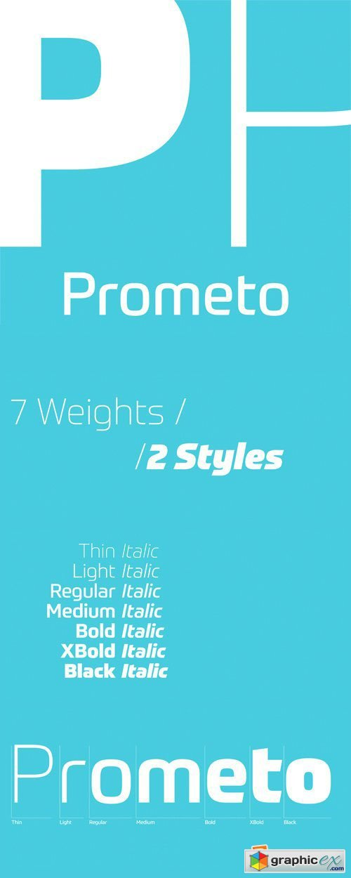 Prometo Font Family - 14 Fonts for $682