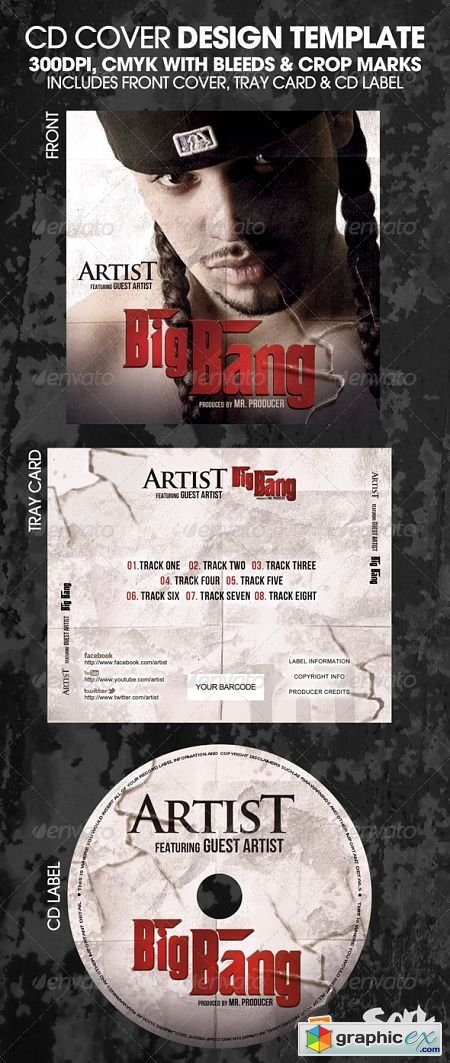 Big Bang Complete CD Template or Flyer 2907693