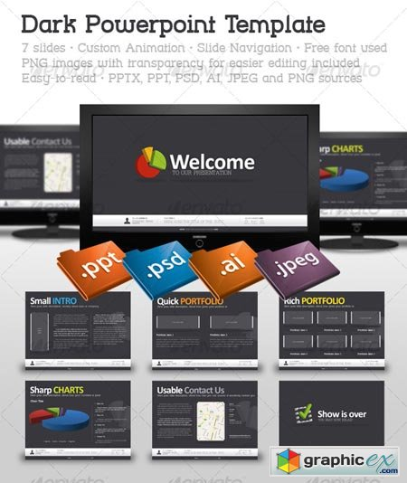 Dark Powerpoint Template 123358