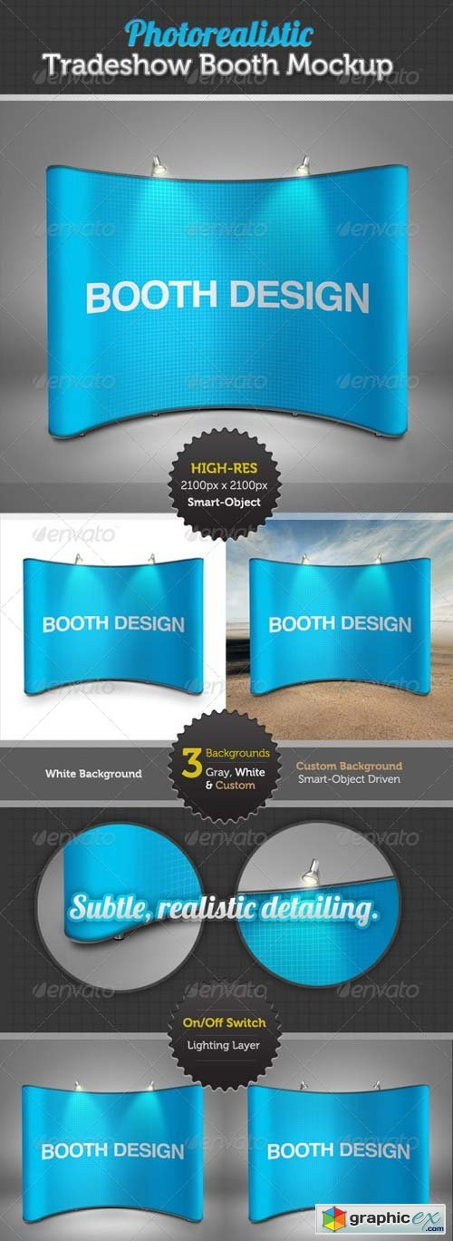 Graphicriver Exhibition Stand Design Mockup : Tradeshow display booth mockup free download vector stock image