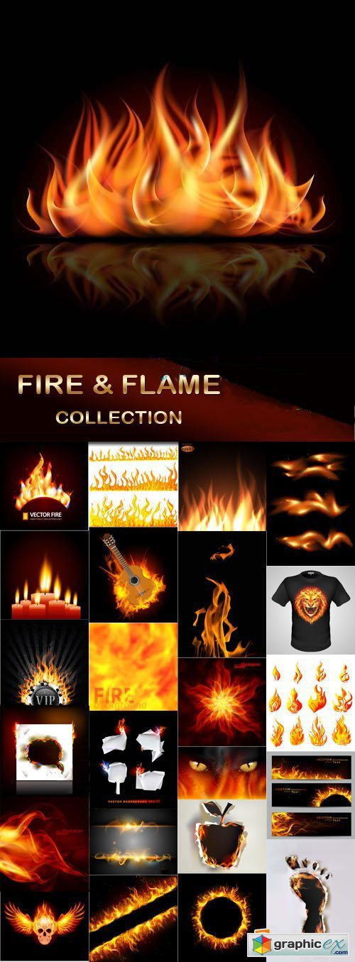 Fire and flame collection, 24xEPS