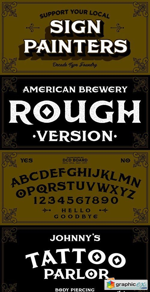 American Brewery Font Family - 2 Fonts