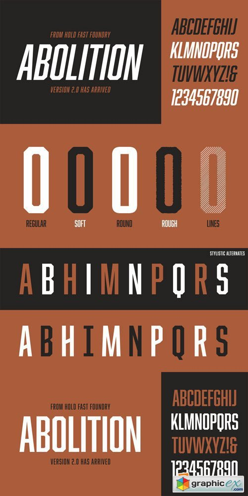 Abolition Font Family - 10 Fonts