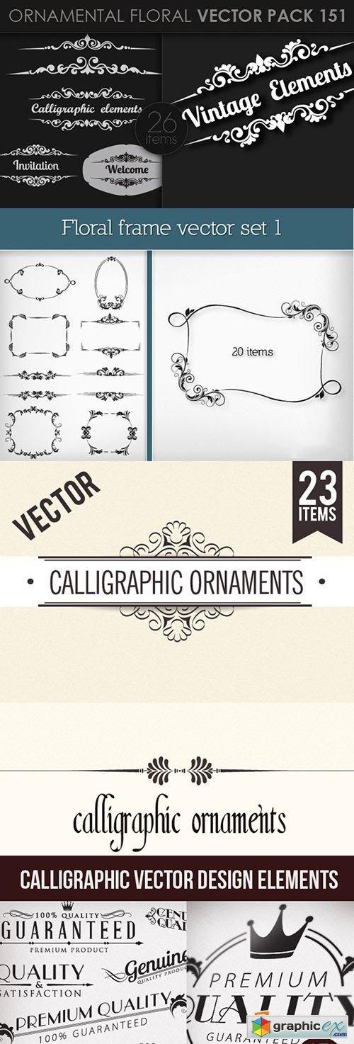 215 Decorative Vector Frames & Ornaments