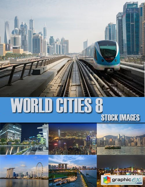 Stock Photos - World Cities 8, 25xJpg