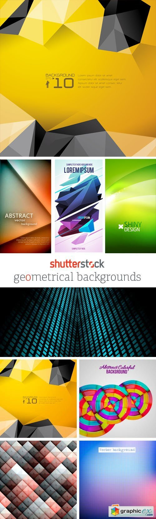 Amazing SS - Geometrical Backgrounds, 25xEPS