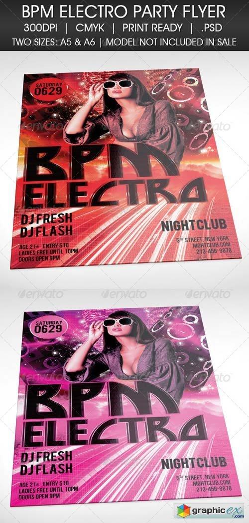 Electro BPM House Techno Party Flyer