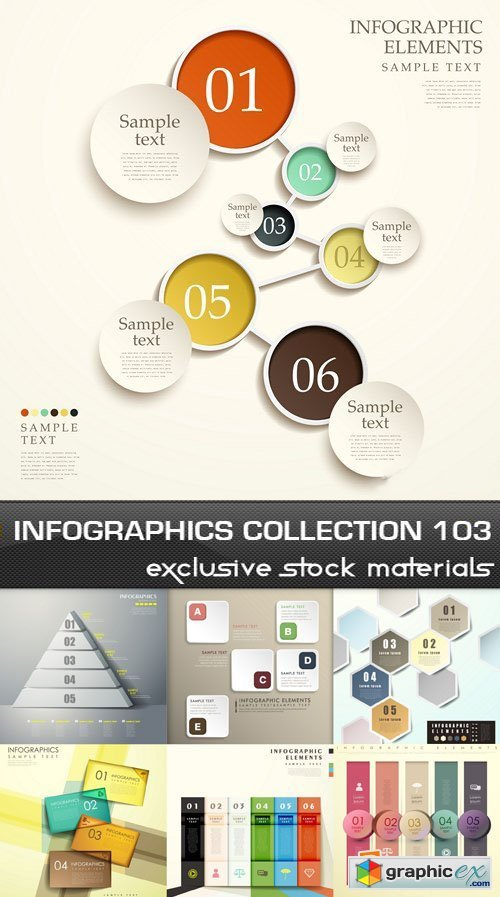 Collection of infographics vol.103, 25xEPS