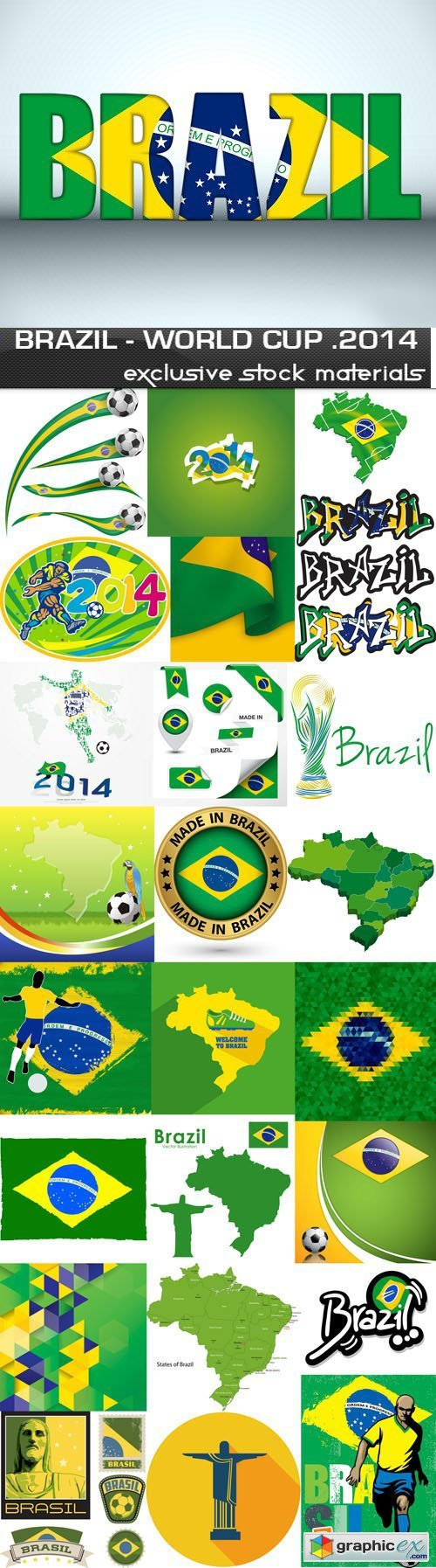 Brazil - FIFA World Cup 2014, 25xEPS
