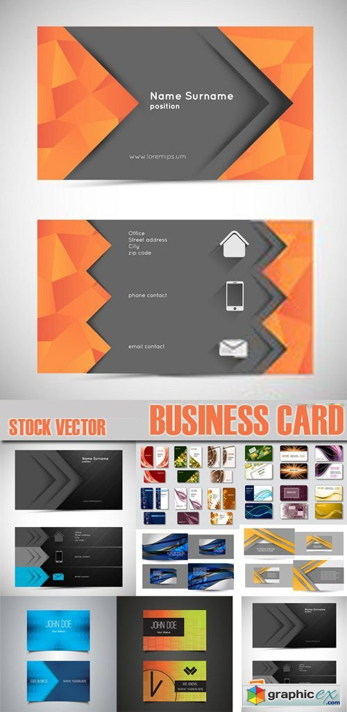 Stock Vectors - Business Card Template, 25xEps