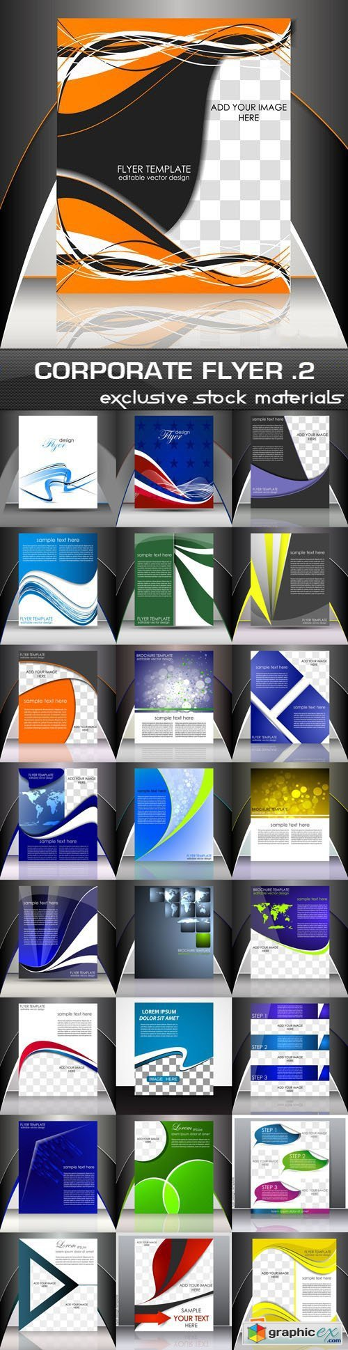 Corporate Flyer Template #2, 25 EPS