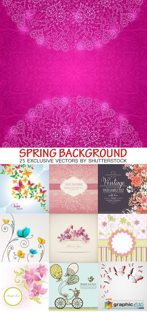 Amazing SS - Spring background, 25xEPS