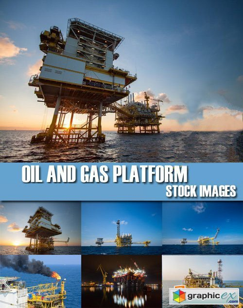 Stock Photos - Oil And Gas Platform, 25xJpg