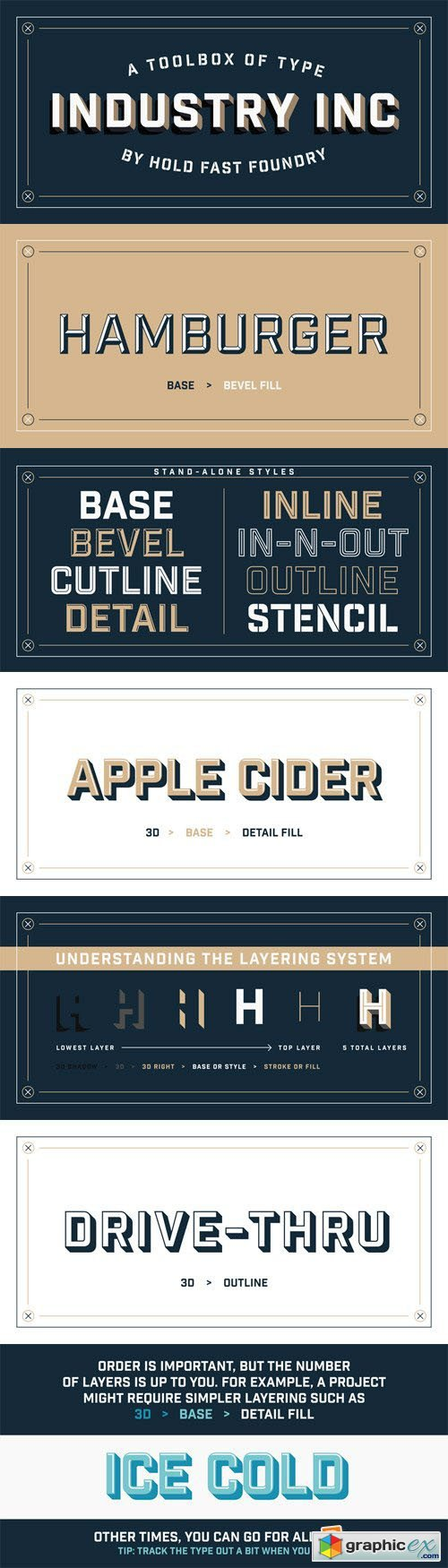 Industry Inc Font Family - 14 Fonts for $69