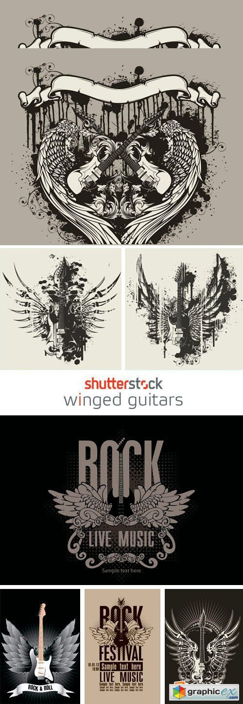 Amazing SS - Winged Guitars, 25xEPS